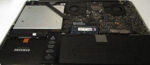 Gammel Harddisk i cd-rom skuff Macbook